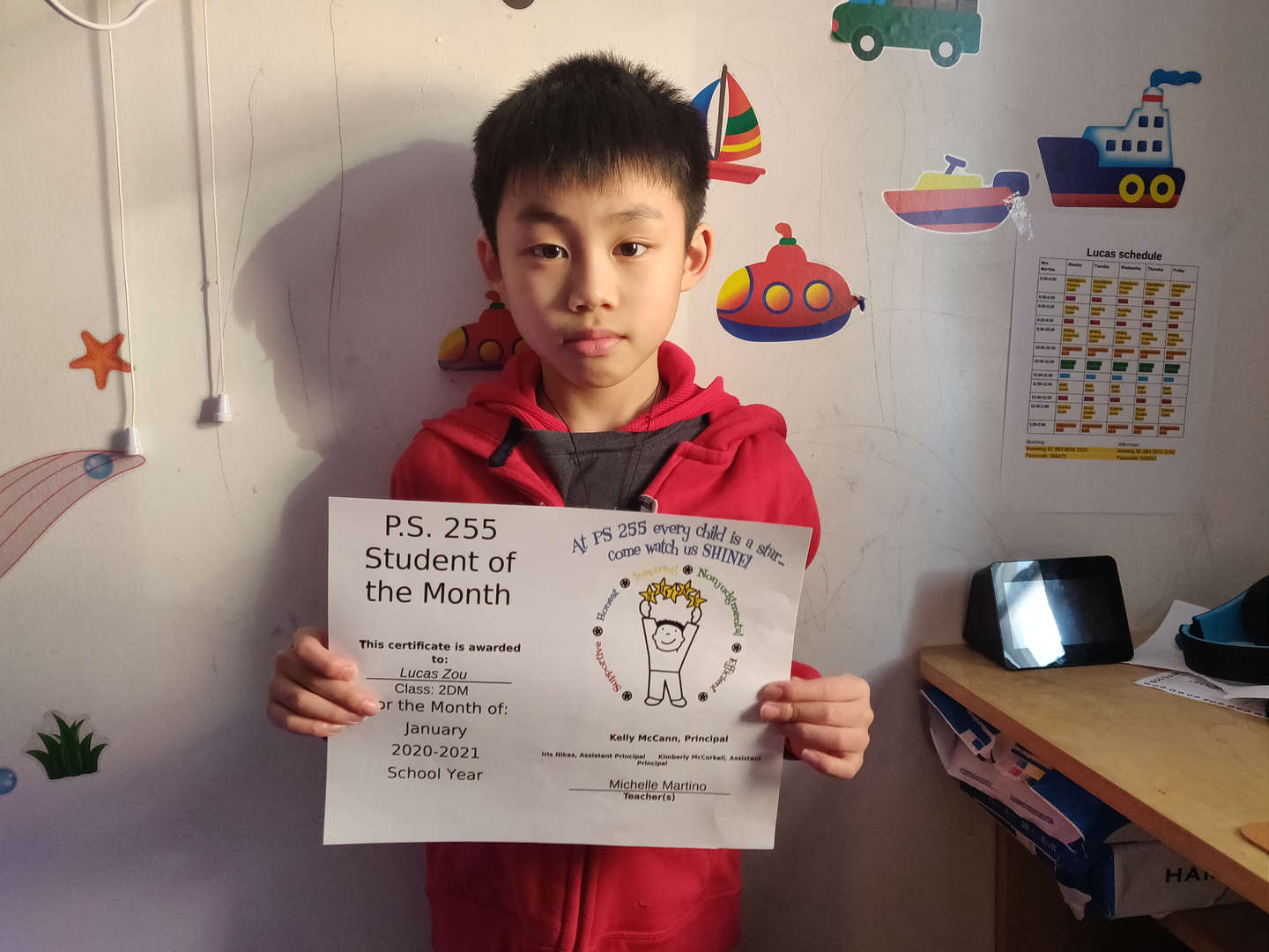 Lucas January Student of the Month