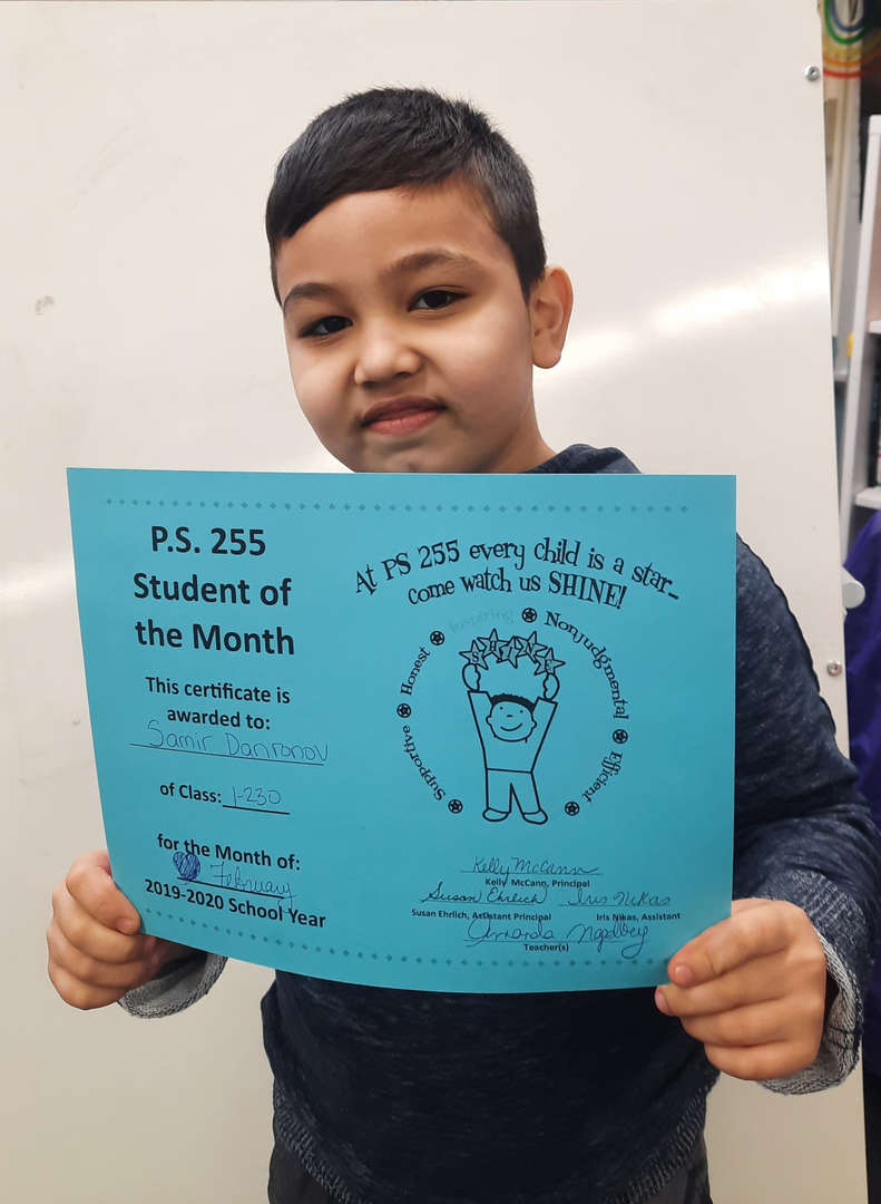 Samir February Student of the Month