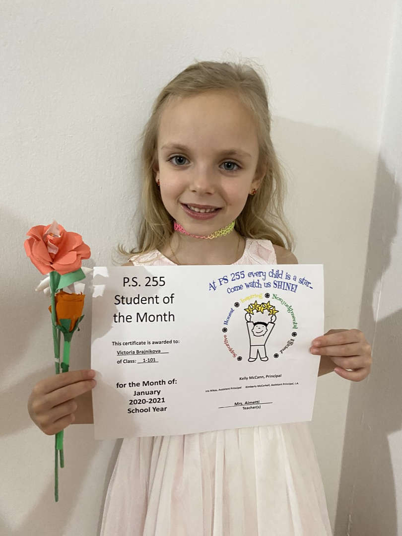 Victoria January Student of the Month