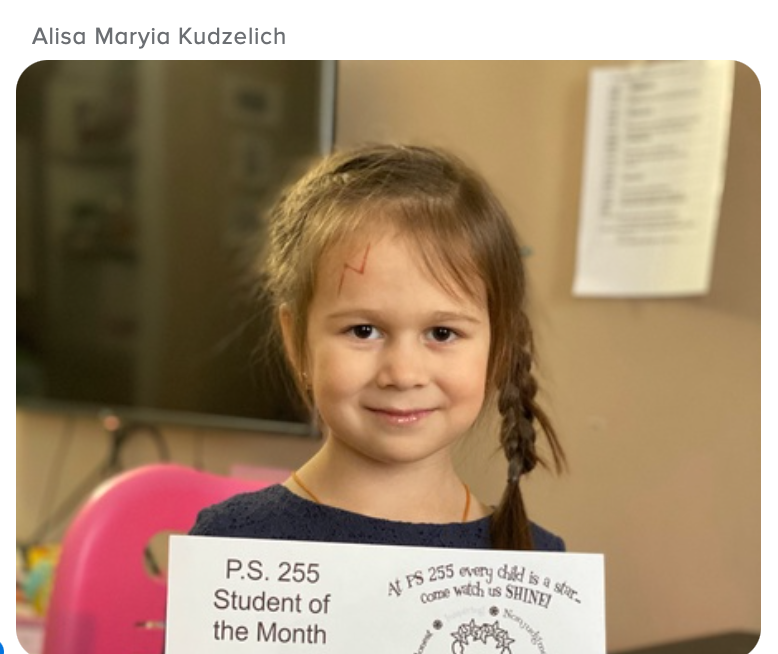 Alisa January Student of the Month