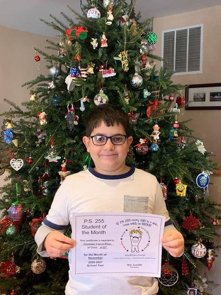 Giuseppe November 2020 Student of the Month