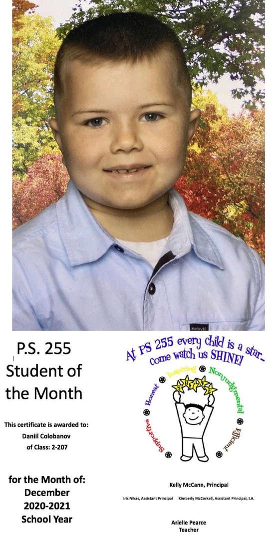 Daniil December Student of the Month