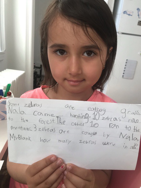girl's writing