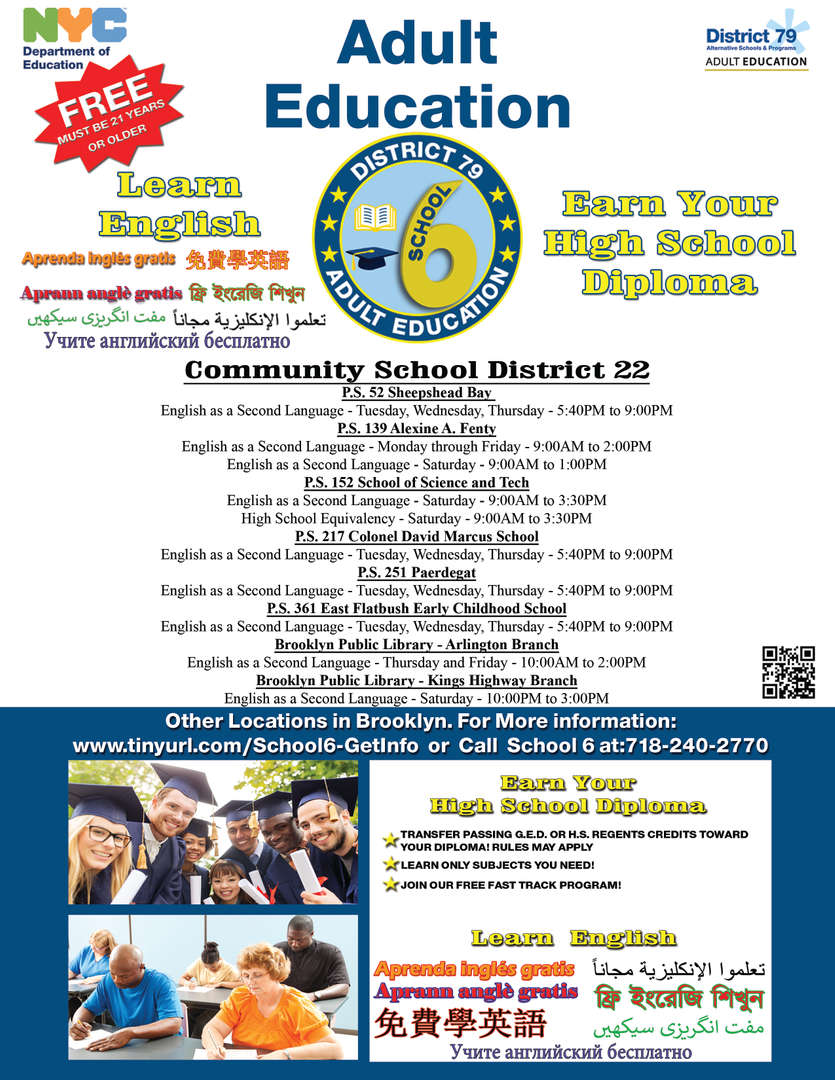 Earn your high school diploma with the help of District 22.