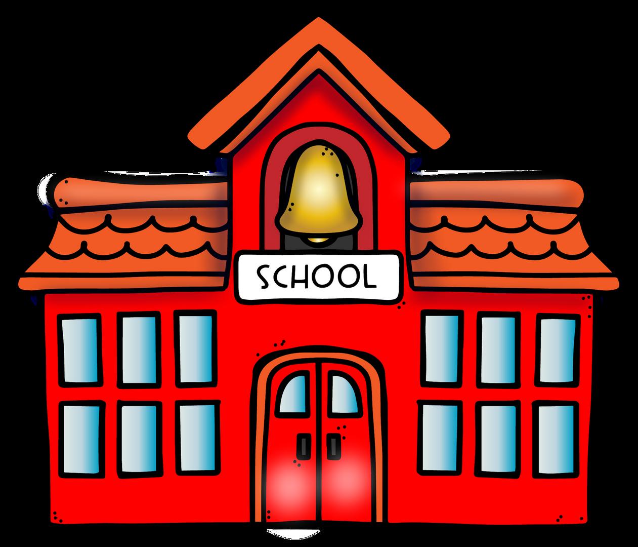 cartoon image of schoolhouse