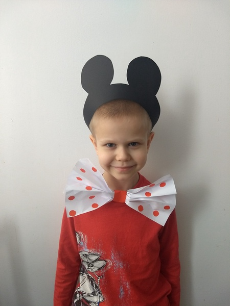 boy dressed as Mickey Mouse