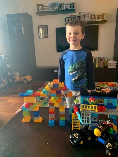 Boy shares house he made using Legos