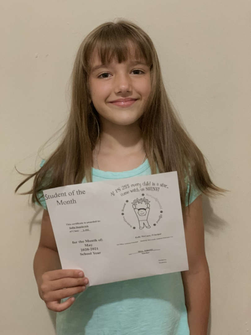 Sofia May Student of the Month