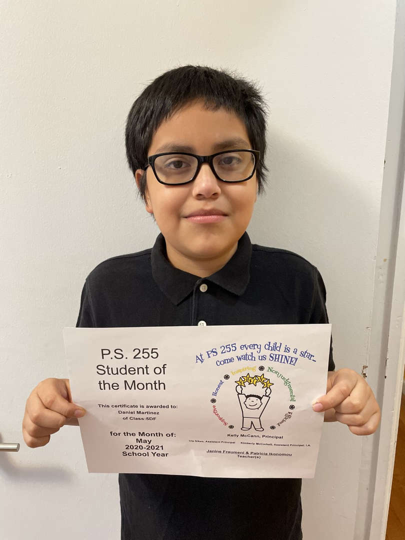 Daniel M. May Student of the Month