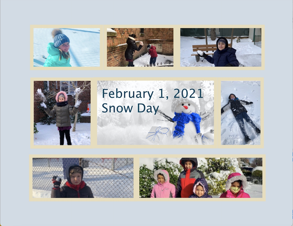 snow day photo sheet