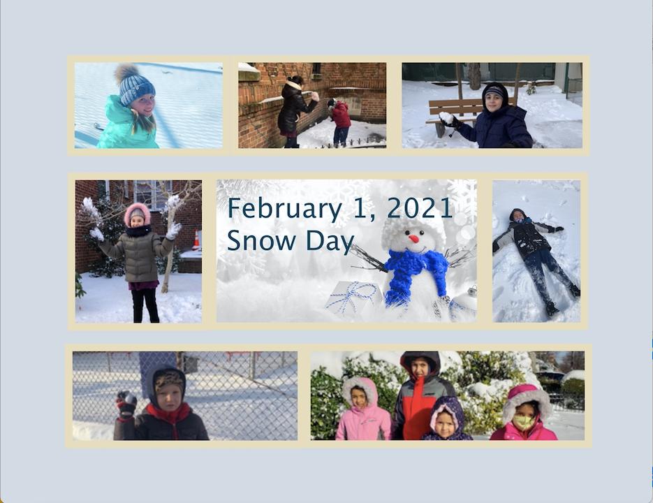 snow day photo sheet