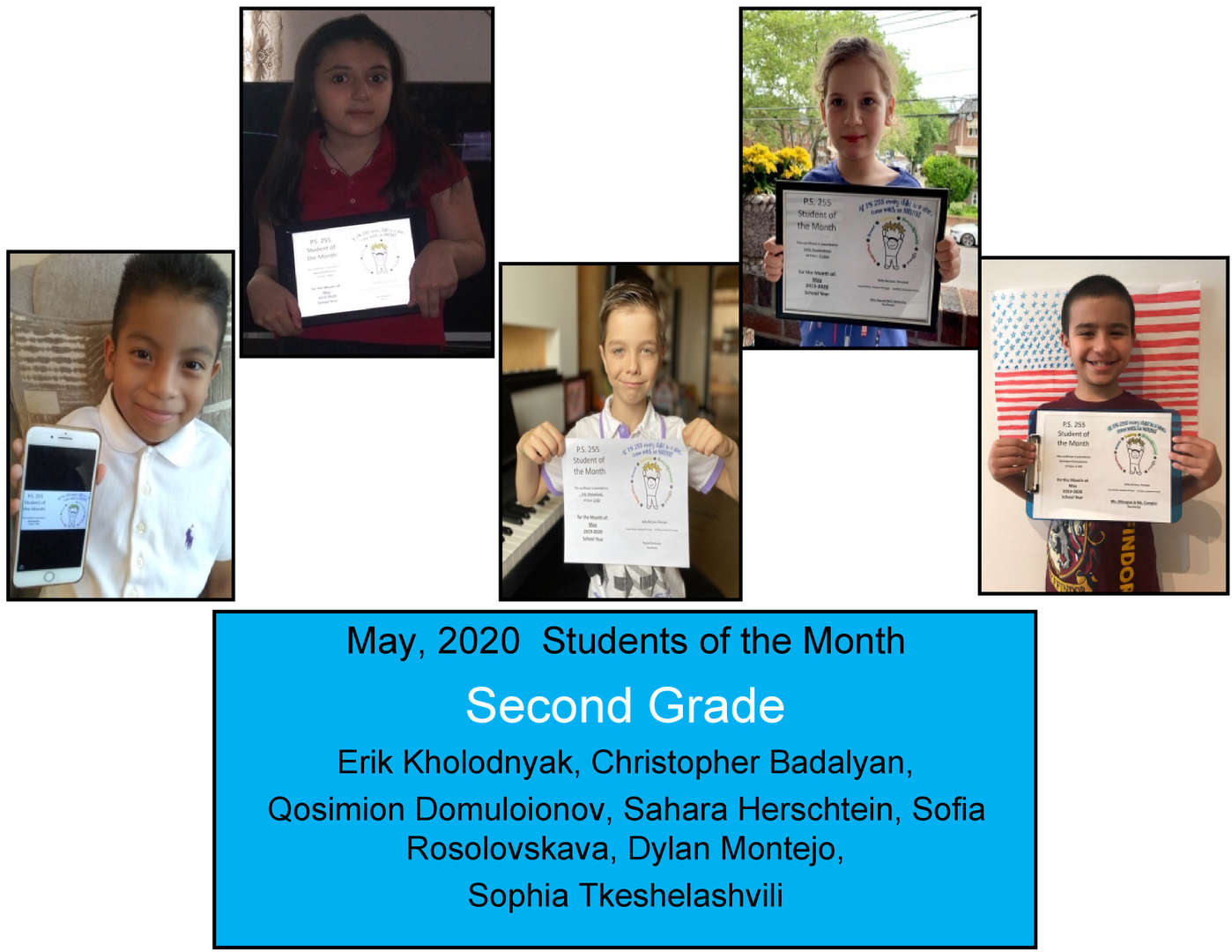 More May Student of the Month Grade 2