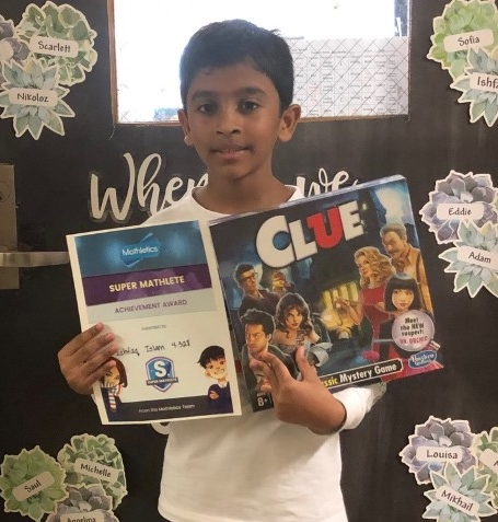 Another student who is the Mathletics winner for September.