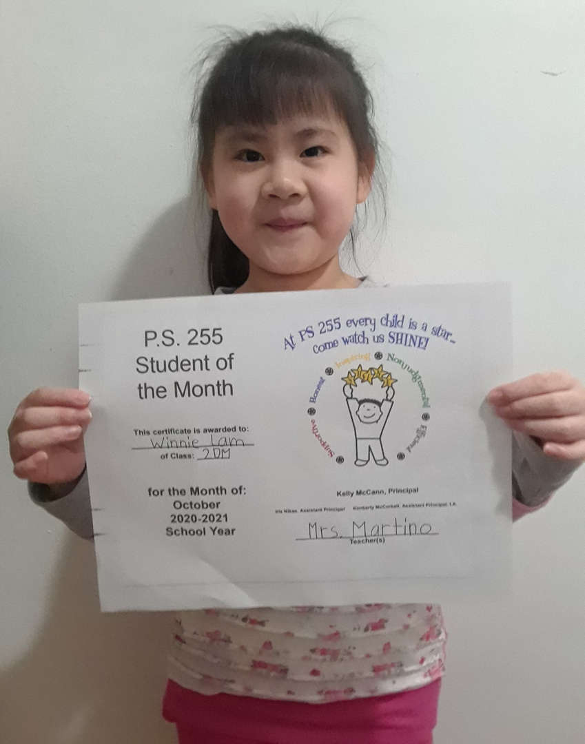 Winnie November 2020 Student of the Month