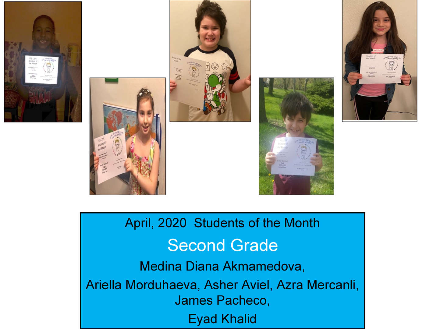 More students for April Student of the Month Grade 2