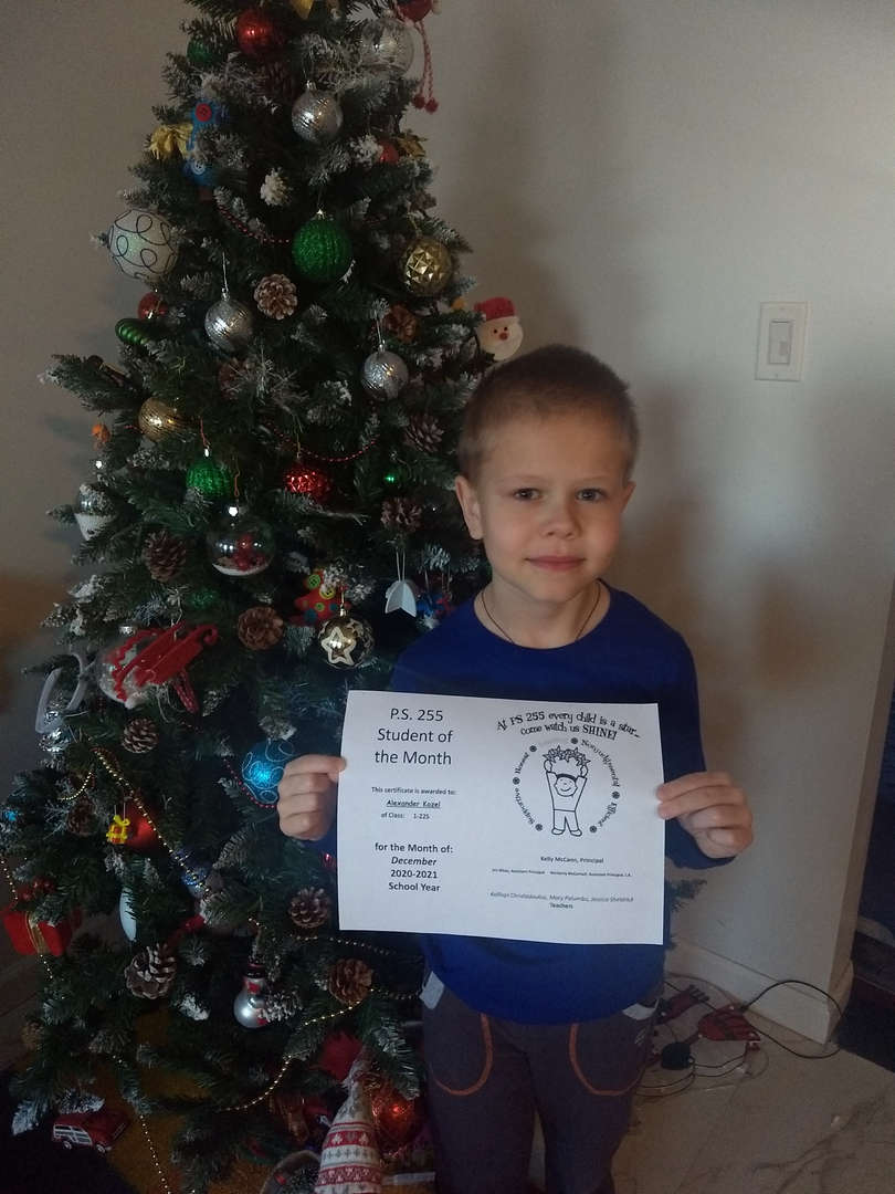 Alexander December Student of the Month