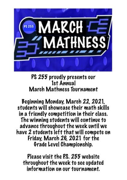 March Mathness Tournament