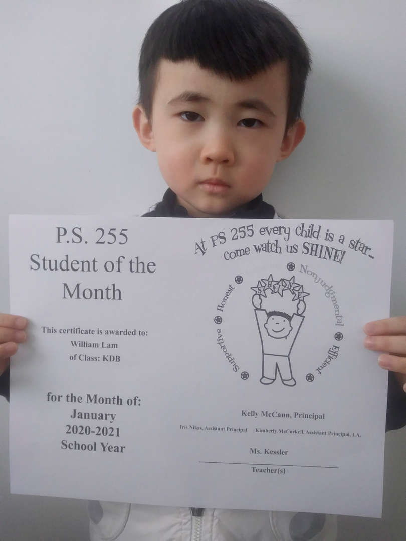 William January Student of the Month