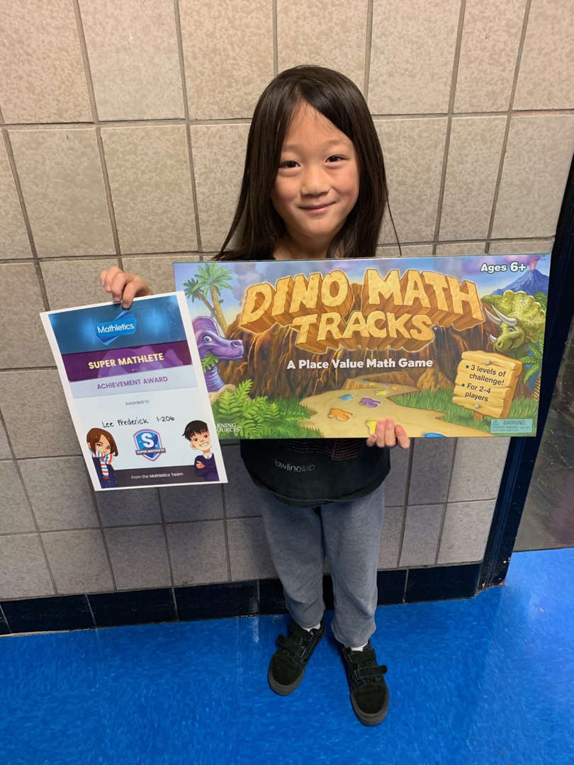 Another student who is the Mathletics winner for October.