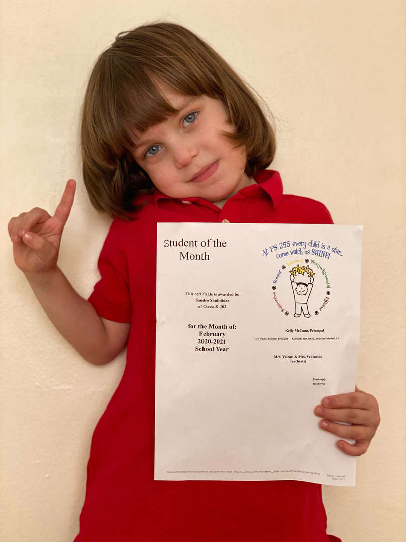 Sandro February Student of the Month