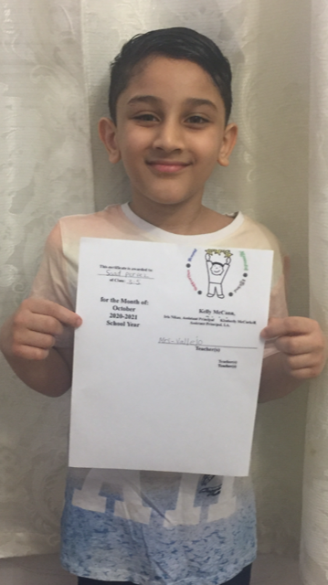 Saad December Student of the Month
