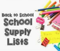 back to school supply list picture with pencils and notebook