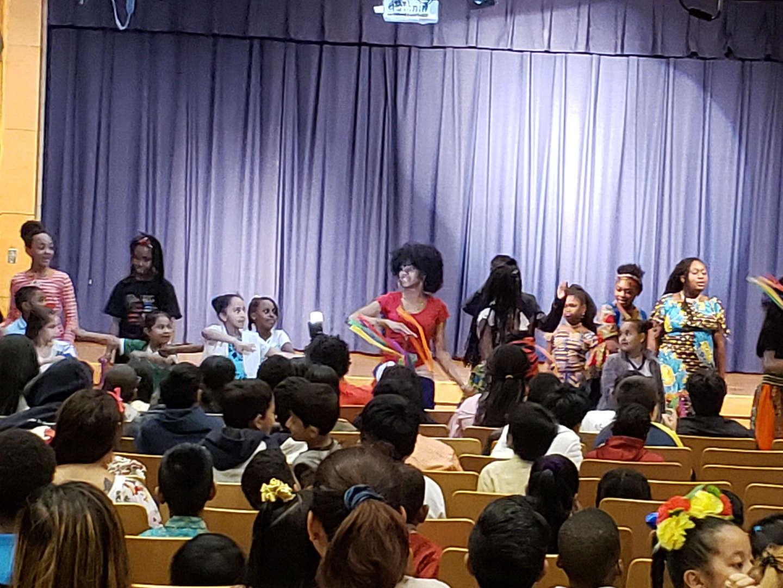 students model cultural attire in fashion show