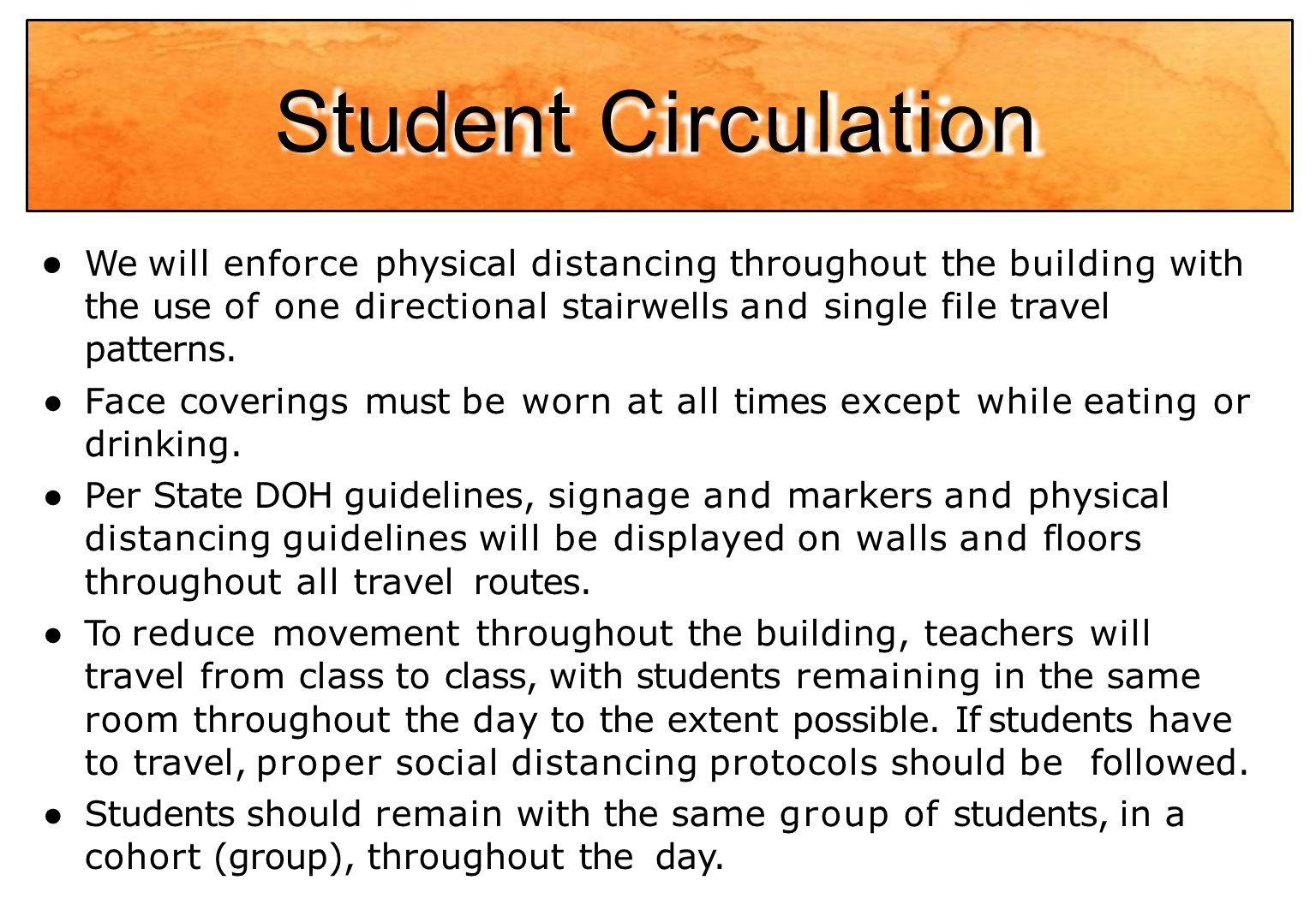 Student movement in school