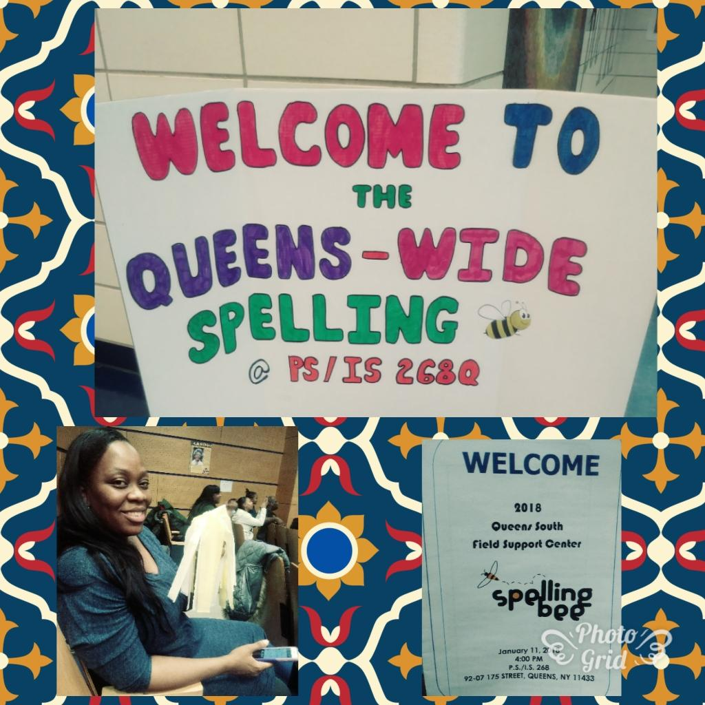 queens wide spelling bee invitation and banner
