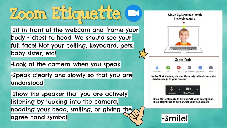 zoom etiquette