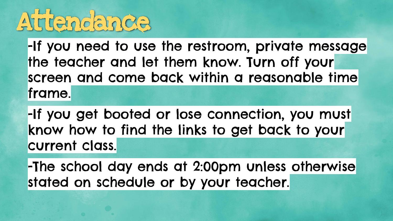 info on attendance