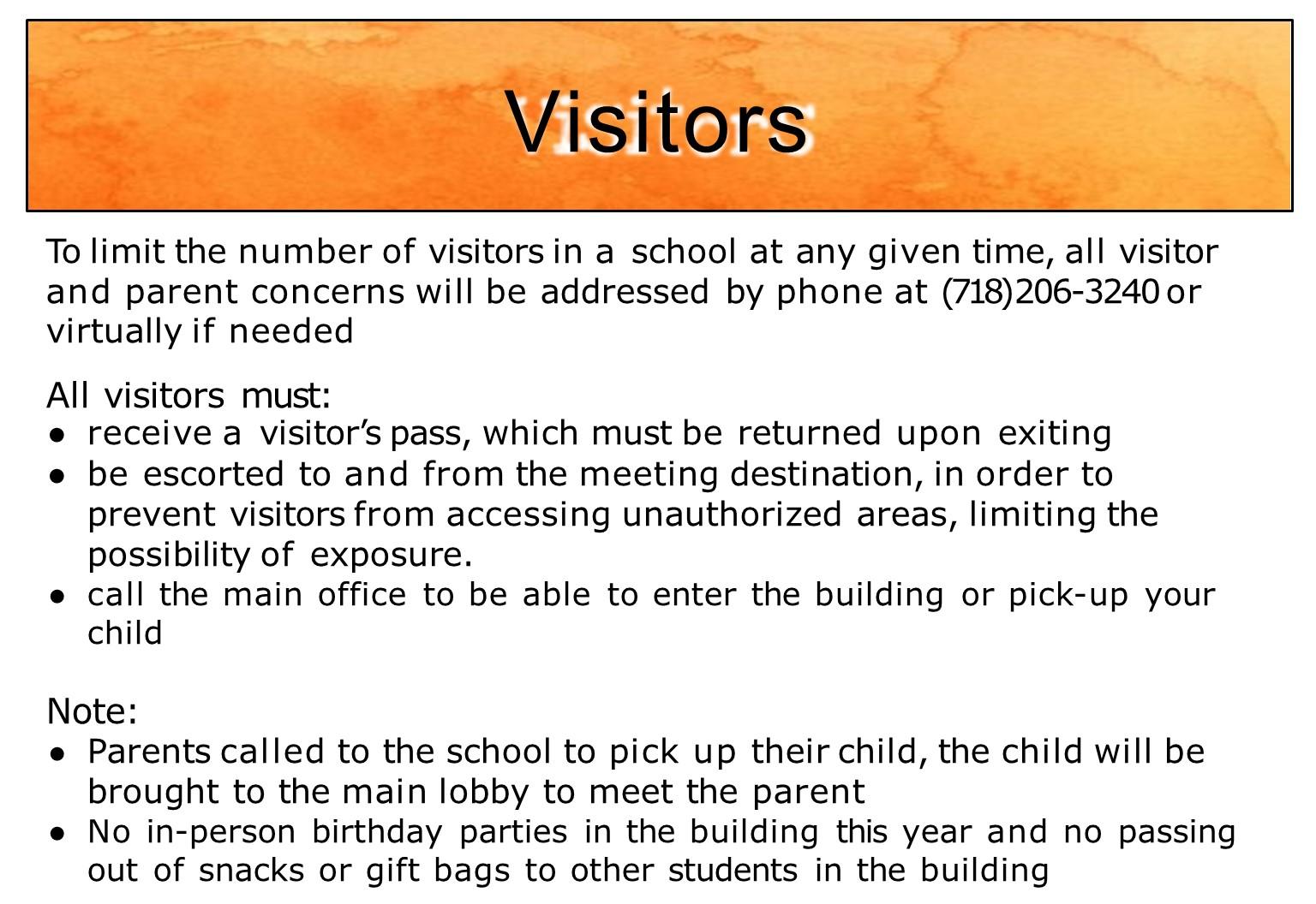 Information on visitation