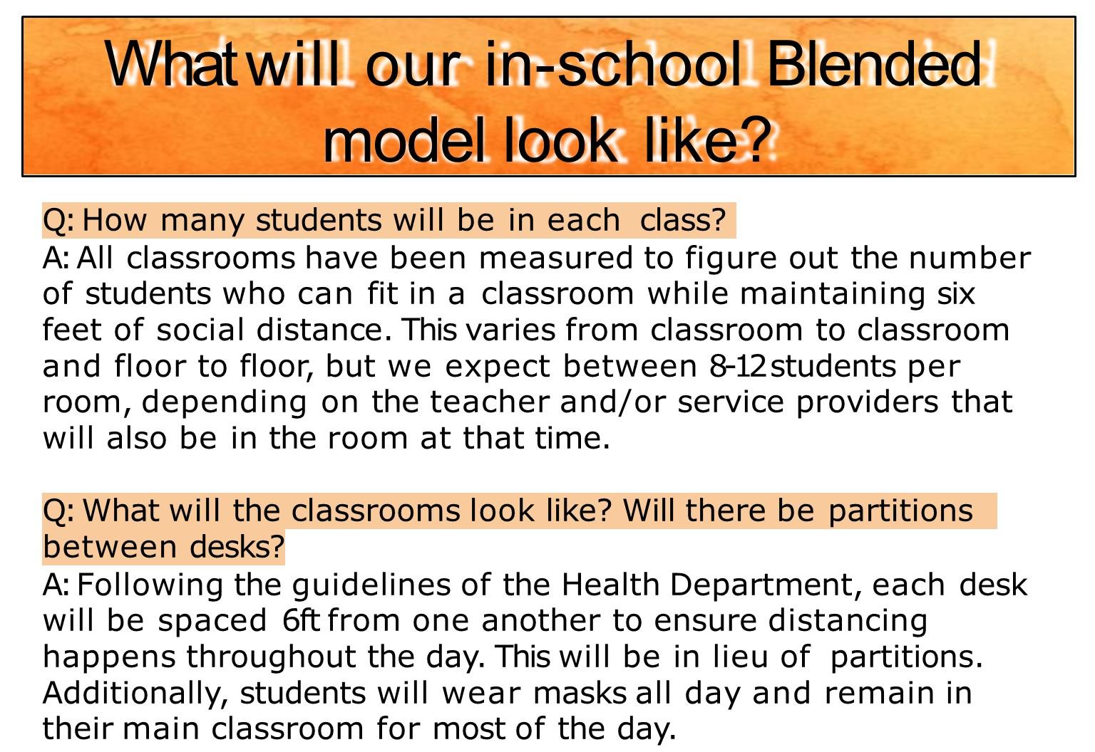 Information on blended learning