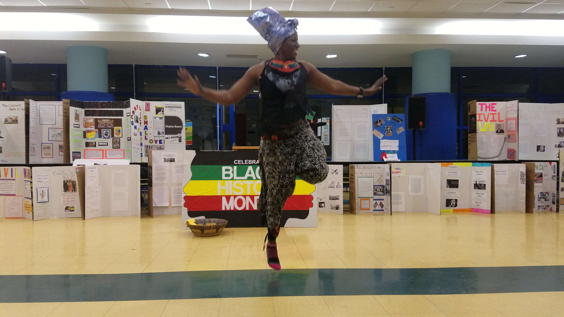 guest dancer performing  for black history month