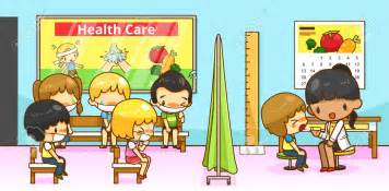 children in a classroom sick