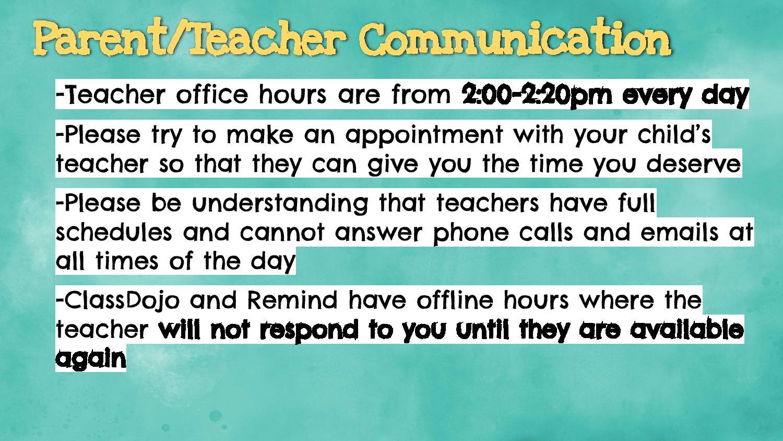 communication types for parents