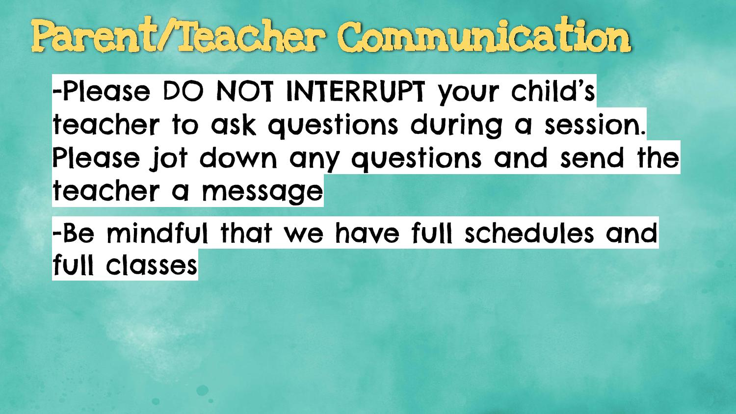 communication for parents and teachers