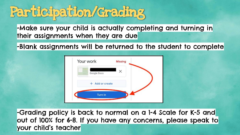 grading information for parents
