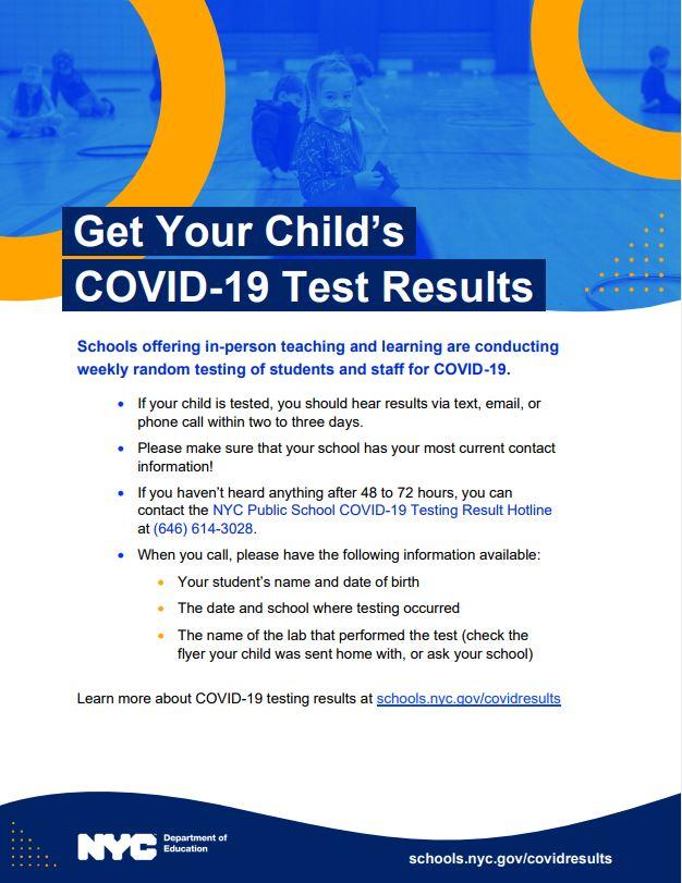covid testing information
