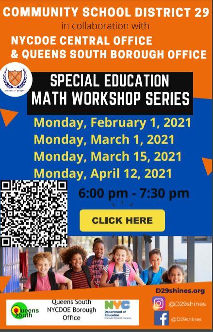 flyer for math workshop