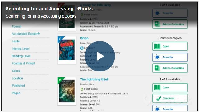 Accessing ebooks video