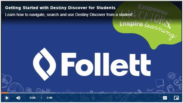 Destiny Discover video