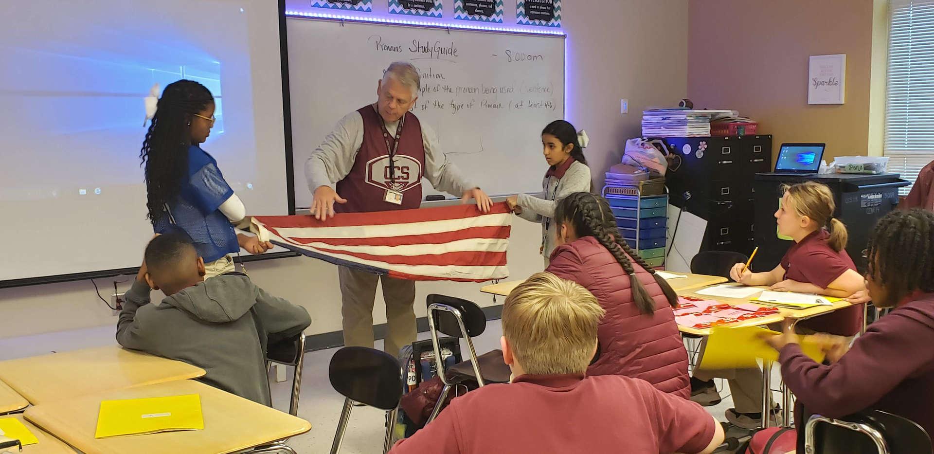 Titan Ambassador Flag Raising Training w/ Mr. Mark Case 2