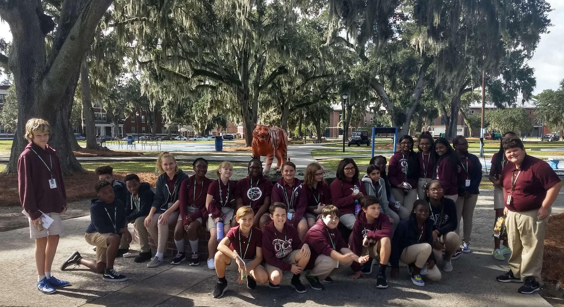7th Grade Science Students at SSU, Oct 2019