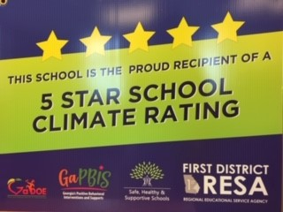 5-Star School Climate Rating from GA DOE 2nd year in a row