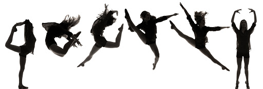 Silhouettes of 6 dancers