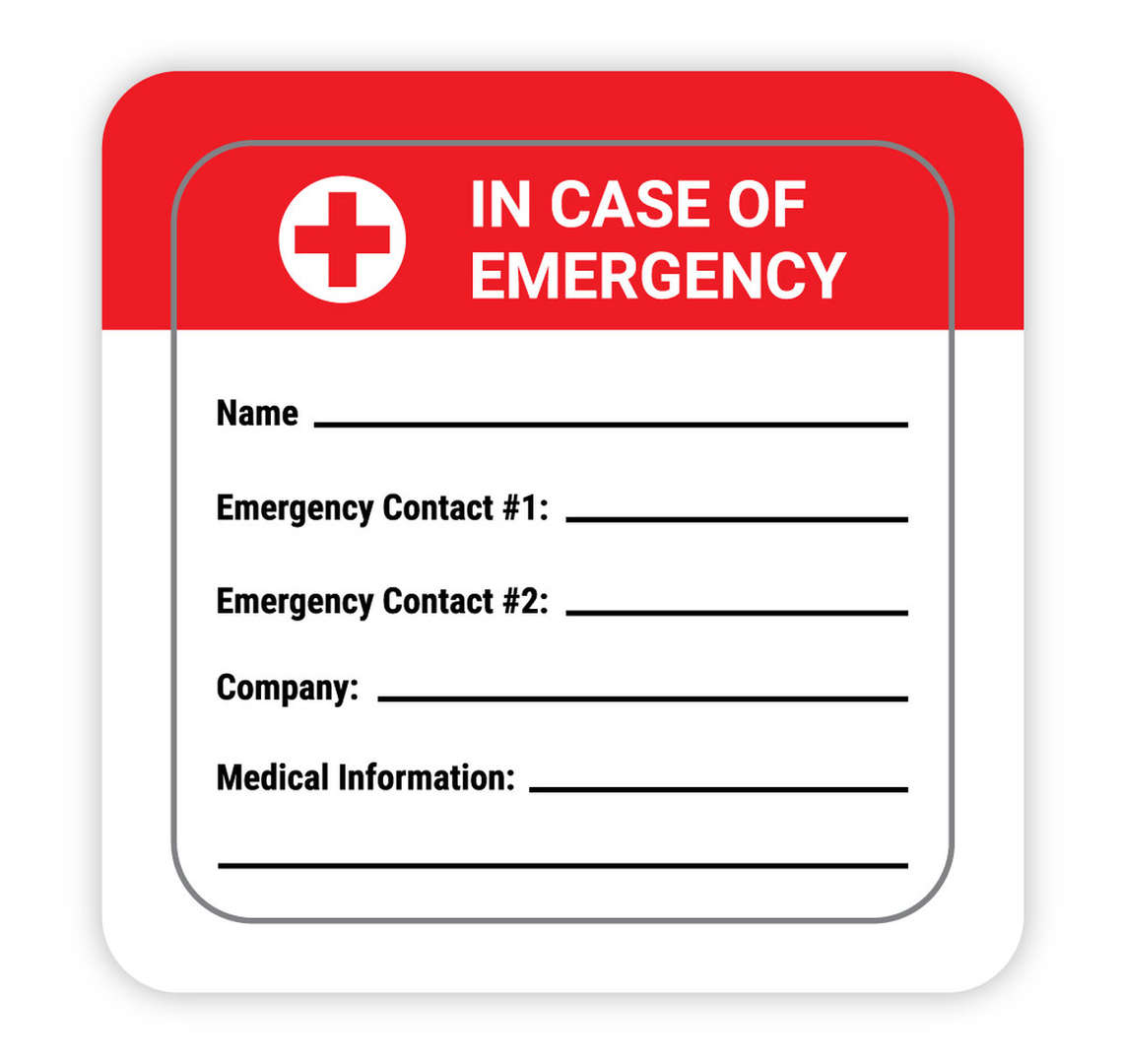in case of emergency form