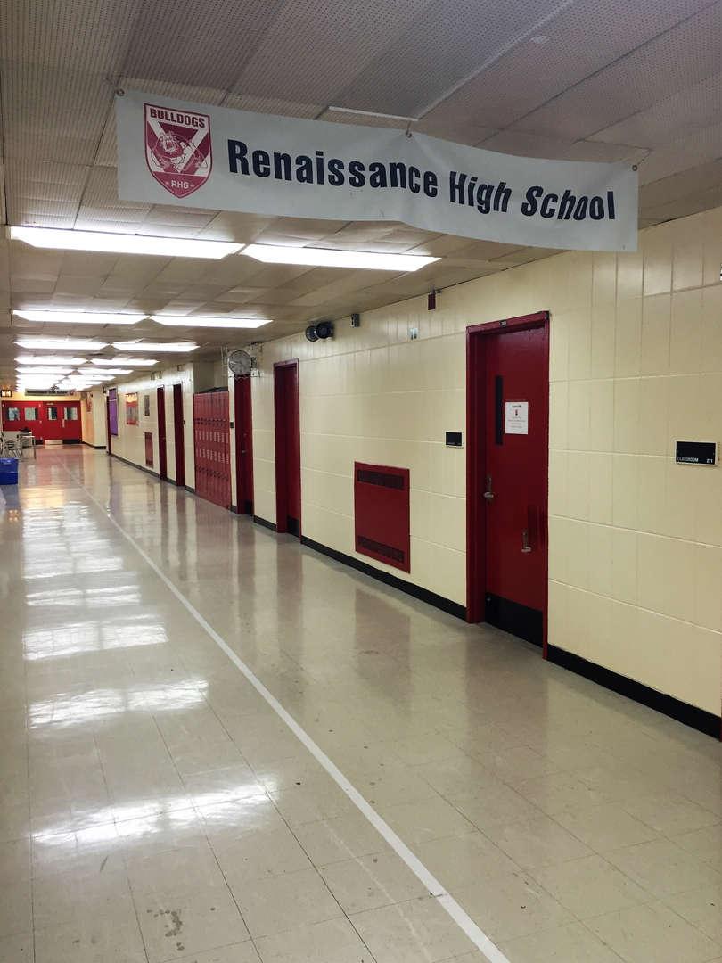 Hallway of Renaissance High School