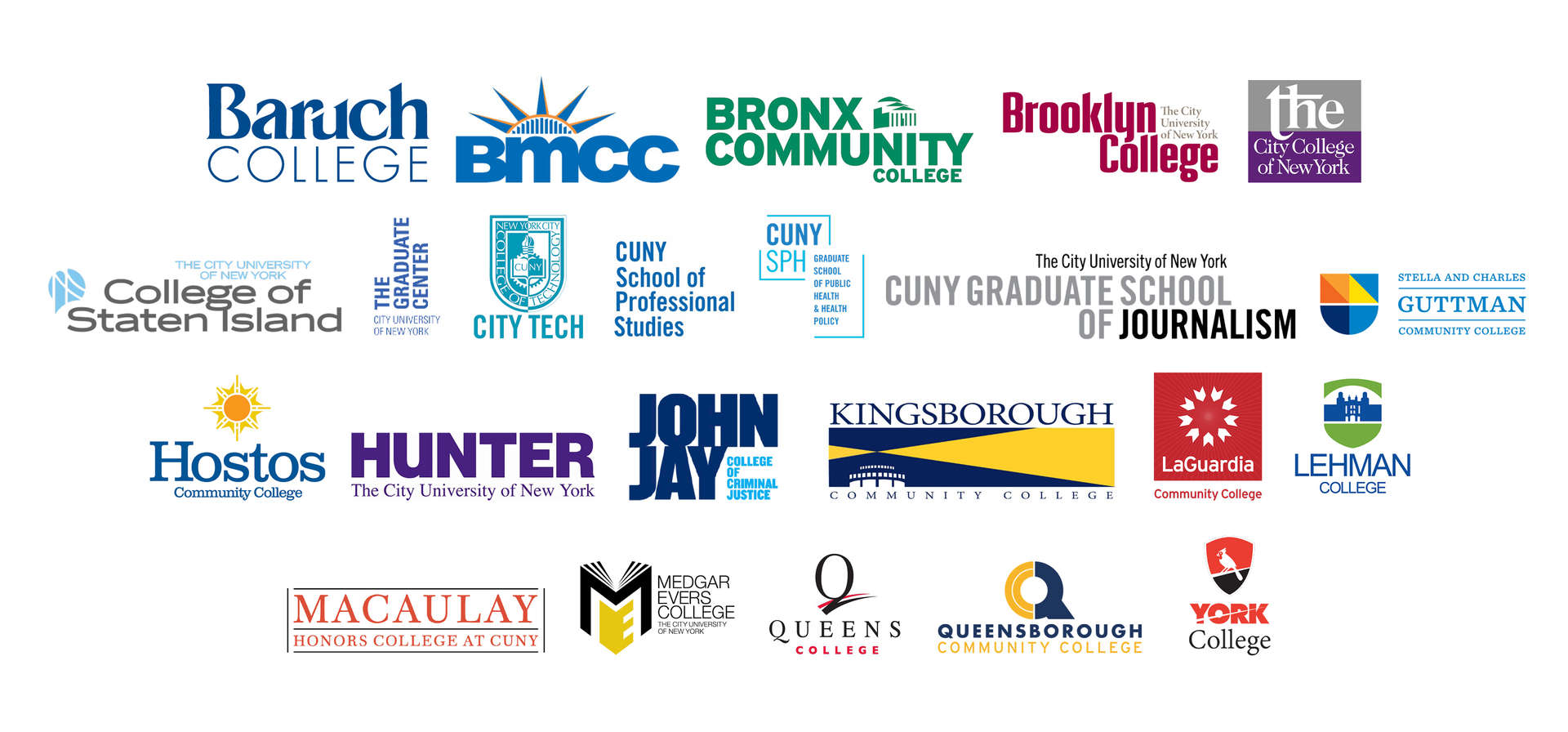 Collage of CUNY school names
