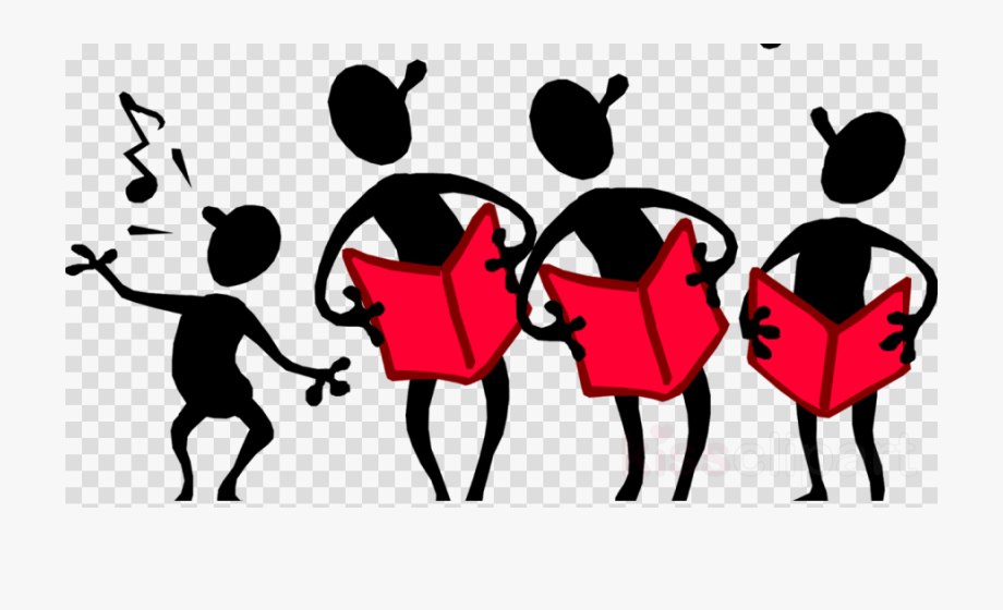 4 stick figures singing